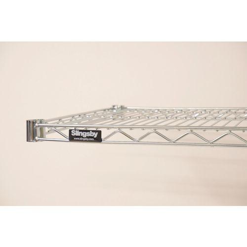 2436nc wire shelf 610mmw x 914mmlfinish chrome wall. Black Bedroom Furniture Sets. Home Design Ideas
