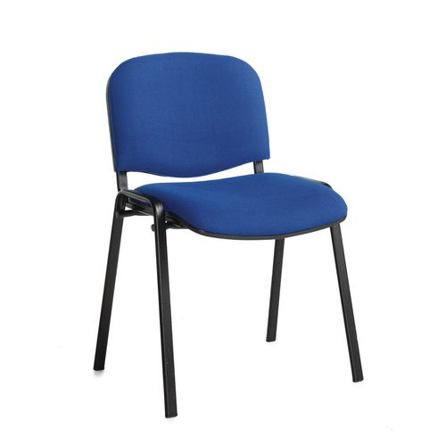 Chair Conference Stackable Blk Frame Blue Pk4 Meeting Room Stacking Cha
