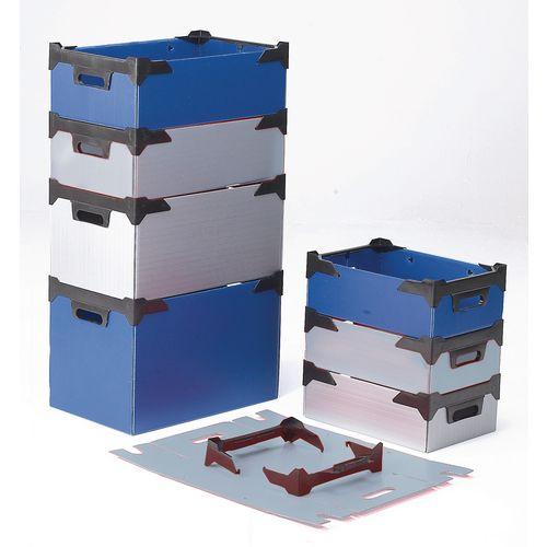 Plastic storage tote bins, pack of 10