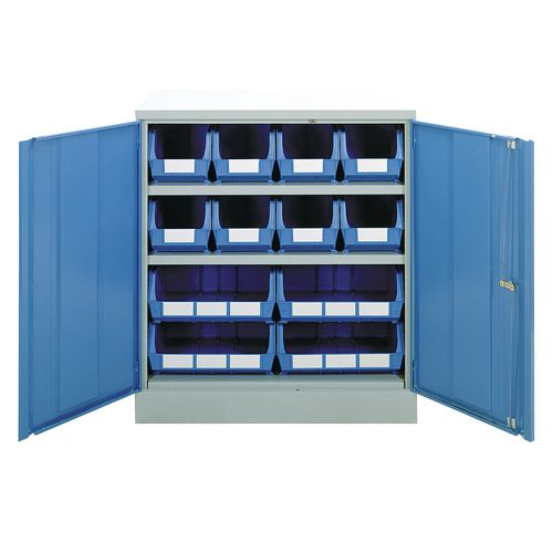 Small parts storage cupboards - Half height unit - 2 shelves