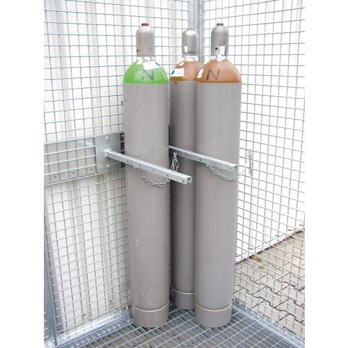 Gas cylinder storage cages - Cylinder supports