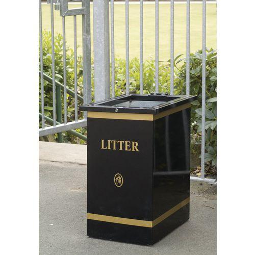 Open top outdoor bin