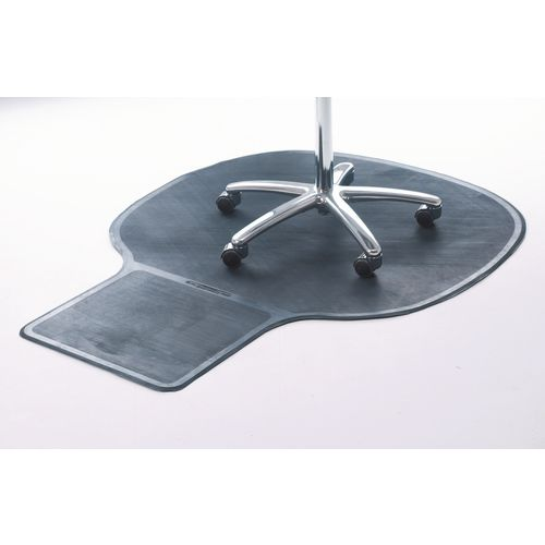Executive rubber chair mat