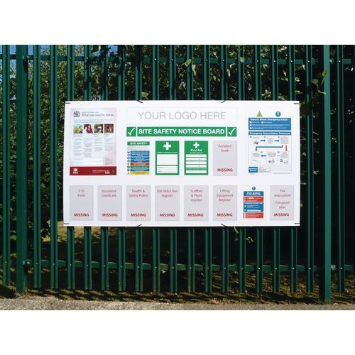 Temporary construction signs - Project site safety board