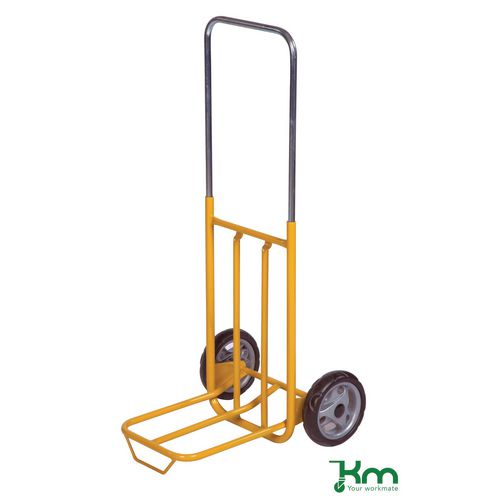 General purpose handtruck with telescopic frame & folding footiron
