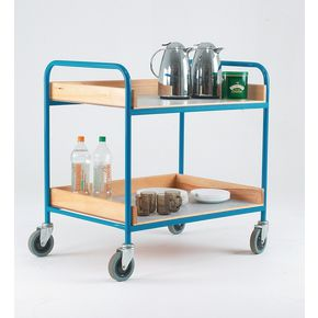 Canteen trolley with two shelves