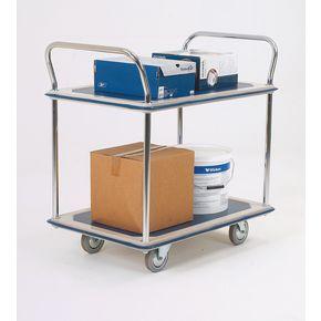 Steel service trolleys - Two tier steel service trolley