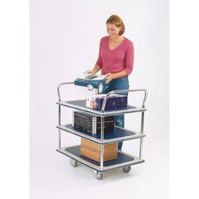 Steel service trolleys - Three tier steel service trolley