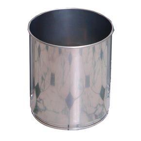Aluminium effect litter bins