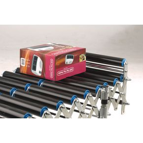 Flexible conveyor end stop rollers