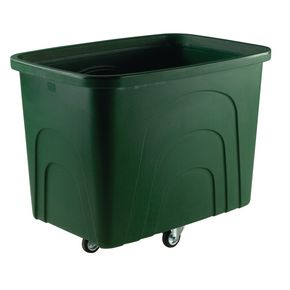 Robust rim container trucks - Container trucks - without lids, green castors in diamond pattern
