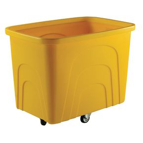 Robust rim container trucks - Container trucks - without lids, yellow castors in diamond pattern