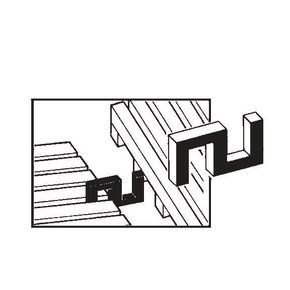 Vynagrip® heavy duty PVC matting - connector clips - End to end, side by side