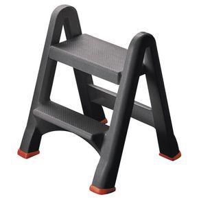 Folding plastic step stool