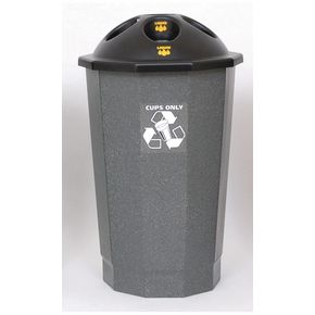 Recycling bank system cup