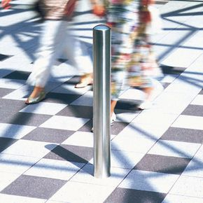 CHICHESTER BOLLARD 1200MM X 108MM SUB-SURFACE FIX. STAINLESS STEEL