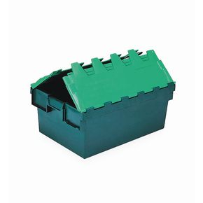 Two tone green polypropylene container