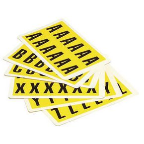 YELLOW LABELS 12.5X8.5MM PACK OF A-Z
