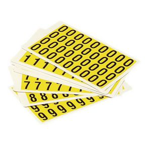 YELLOW LABELS 19X14MM PACK OF 0-9