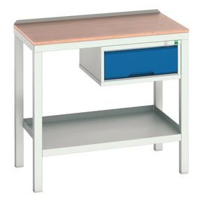 STATIC WELDED BENCH WITH DRAWER MPX TOP