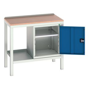 STATIC WELDED BENCH WITH CUPBOARD MPX TOP