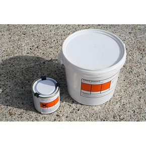 Tactile surface tiles adhesive