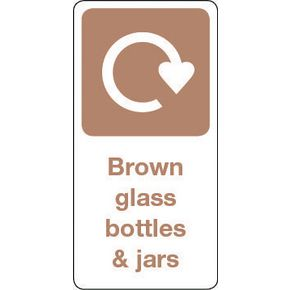 SIGN BROWN GLASS BOTTLES & JARS VINYL ROLL OF 20 - H X W: 50 X 25