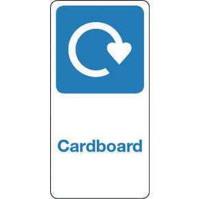 SIGN CARDBOARD VINYL ROLL OF 20 - H X W: 50 X 25
