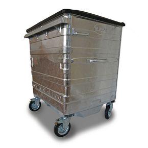 1100L Galvanised wheelie bin