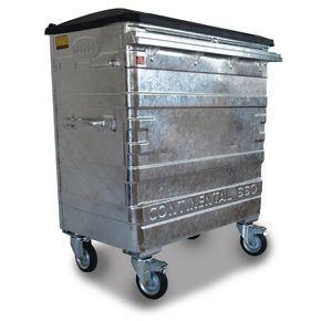 660L Galvanised wheelie bin