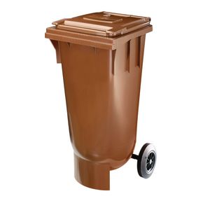 120L wheeled bin with spherical bottom