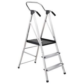 Large platform step stool