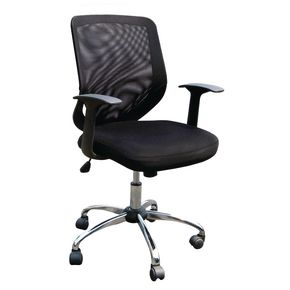 Mesh back operator chair with chrome base