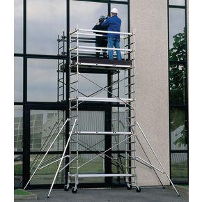 Aluminium work platform - Platform heights to 4.7m - Wheel kit sold separately