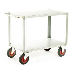 Heavy duty stainless steel trolley with 2 shelves 1000 x 600mm