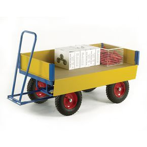 TURNTABLE TRAILER 1200 X 600 PNEMATIC TYRES, 500KG