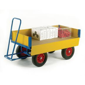 TURNTABLE TRAILER 1200 X 600 SOLID TYRES, 500KG