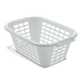 40L LAUNDRY BASKET IN WHITE - -