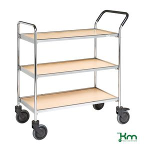 Chrome service trolley
