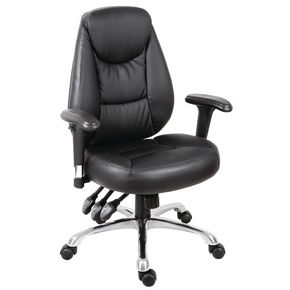 PORTLAND BLACK CHAIR WITH ARMS