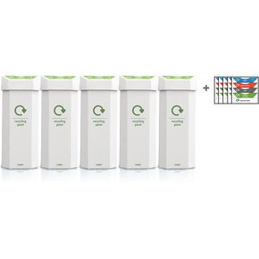 Recycling bin pack of 5