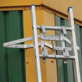 Ladder stand off - with V insert