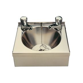 Visualizza prodotto: MINI STAINLESS STEEL WASH BASIN, SUPPLIED  WITH PLUG, CHAIN, APRON SUPPORT AND WASTE. TAPS NO