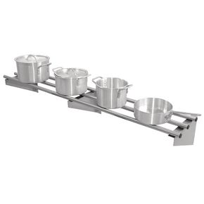 Visualizza prodotto: STAINLESS STEEL 3 ROD SHELVES FOR HANGING  AND STORING COOK WARE, FLAT PACKED FOR SELF ASSEMB