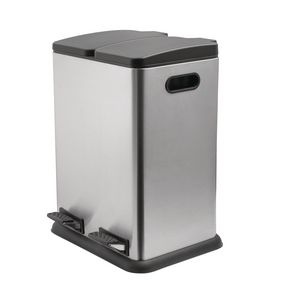 40L two compartment recycling bin