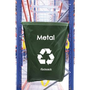 METAL WASTE GREEN RACKSACK PK 5