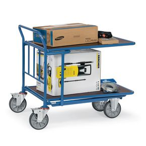 DOUBLE DECK CASH & CARRY TROLLEY 1000 x 700MM