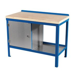 HEAVY DUTY STATIC BENCH 1200 x 600 WITH WOOD  TOP