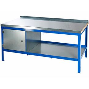 SUPER HEAVY DUTY STATIC BENCH 1200 x 600 WITH  WOOD & STEEL TOP