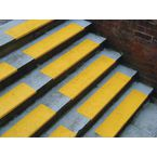 Yellow S/S Tread With Nosing 600 X 180 + 20Mm